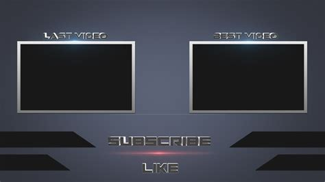 [Speed Art] Photoshop Free Outro Template   YouTube