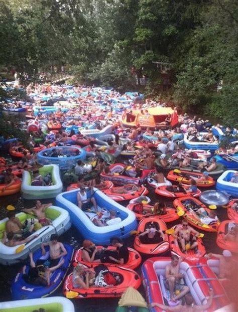 Spring Break Float Trip River Rafting Traffic Jam Don t ...