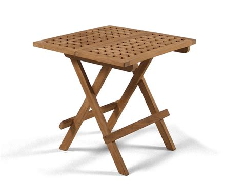 Square Folding Teak Garden Table