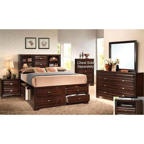 Stella Merlot 7 Piece King Bedroom Set