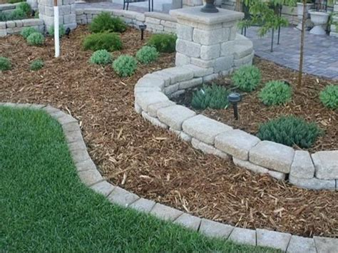 stone edging for flower beds | above, is section of The ...