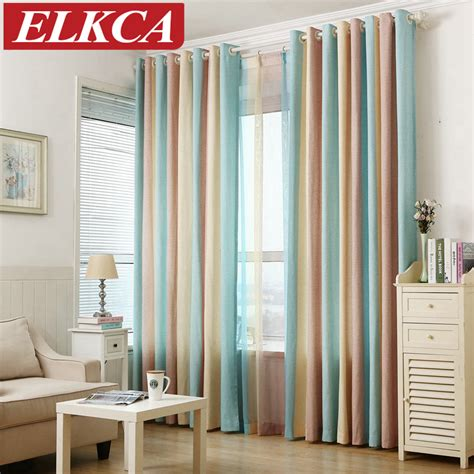 Striped Printed Window Curtains for the Bedroom Fancy ...