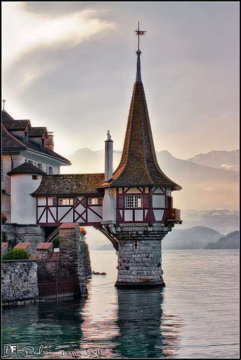Suiza   Pueblos con encanto   Oberhofen   Castillo   Flickr