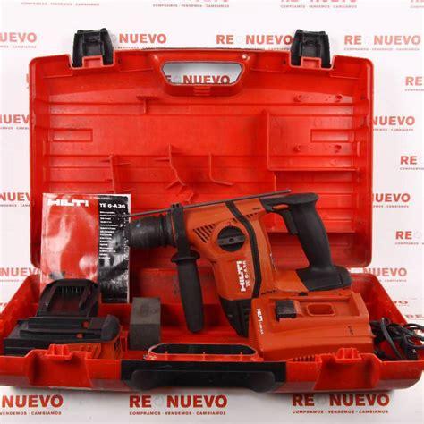 Taladro percutor a bateria HILTI TE6 A36 AVR E267241 ...