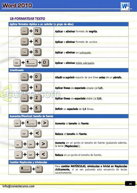 Taller de Atajos de teclado Word 2010