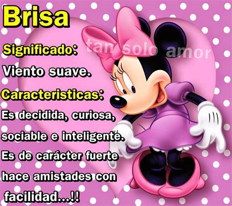tan solo amor: Significado de los nombres BRISA