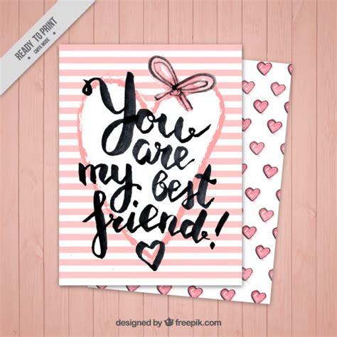 Tarjeta de rayas rosas del día de la amistad | Descargar ...