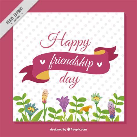 Tarjeta del día de la amistad con flores | Descargar ...
