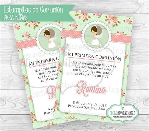 Tarjetas Invitaciones Primera Comunion Bautismo Niña ...