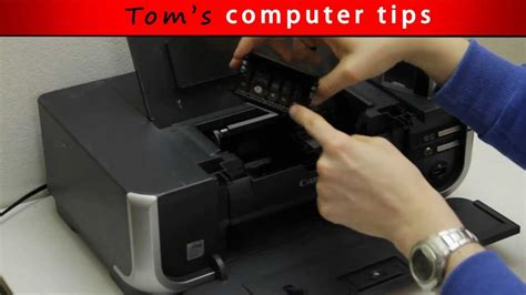 TCT - How to remove and clean Canon Printhead - YouTube