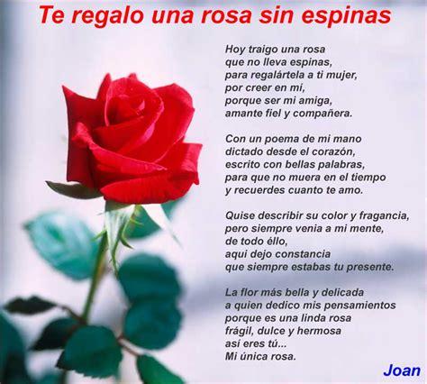 Te regalo una rosa sin espinas   Poemas de amor