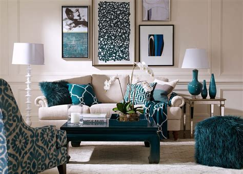 Teal And Cream Living Room   [peenmedia.com]