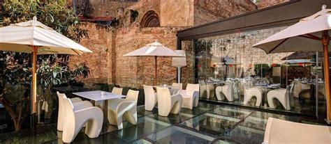 Terraza del restaurante Hotel Olivia Plaza, Barcelona. Un ...