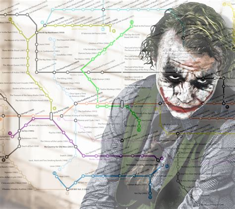 The Best Movies of All Time   Subway Style Map — GeekTyrant