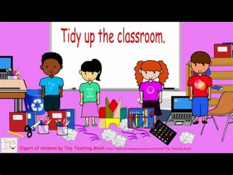 Tidy up the classroom   YouTube