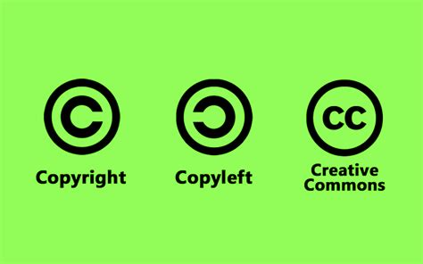 Tipos De Licencias  Creative Commons, Copyleft y Copyright ...