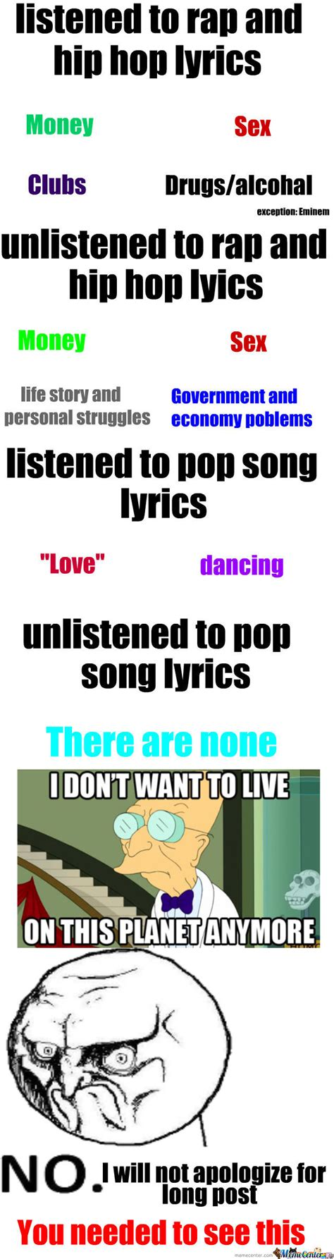 Todays Most Popular Song Topics by kaylagomez   Meme Center