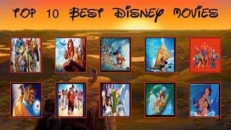 Top 10 Best Disney Movies by DigiCartoonist99 on DeviantArt