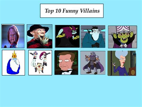 Top 10 Funny Villains Meme by coralinefan4ever on DeviantArt