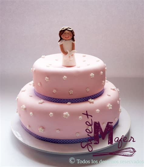 torta primera comunion nina