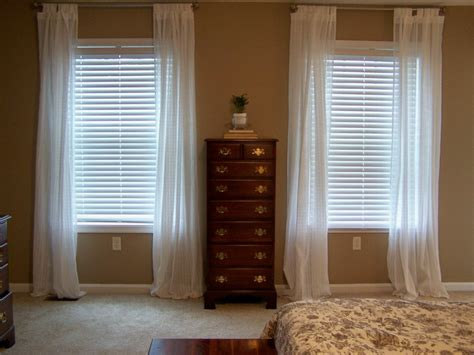 Traditional Bedroom with Short Window Long Curtains, and ...
