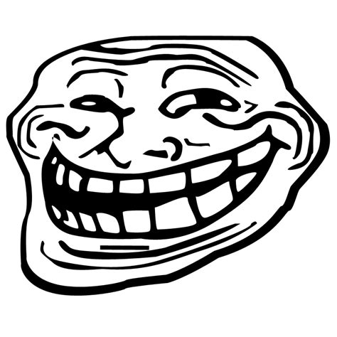 transparent troll face
