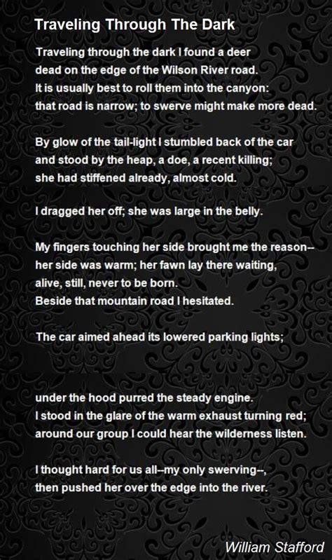 Traveling Through The Dark Poem by William Stafford   Poem ...