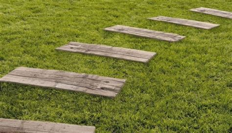 Traviesas Ferrocarril de piedra artificial, imita madera ...