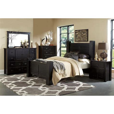 Trestlewood Black 6 Piece Cal King Bedroom Set