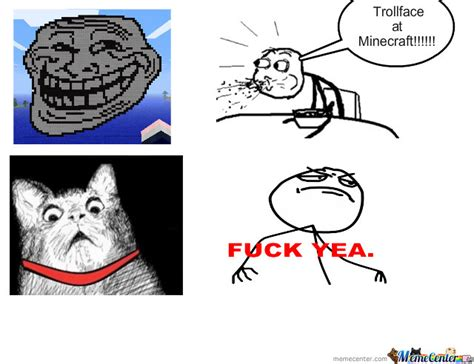 Trollface At Minecraft!!!!! by masterman   Meme Center
