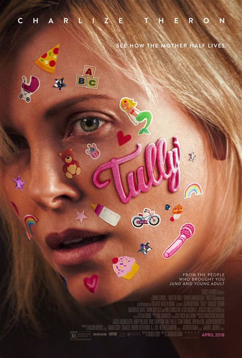 TULLY MOVIE POSTER 2 Sided ORIGINAL FINAL 27x40 CHARLIZE ...