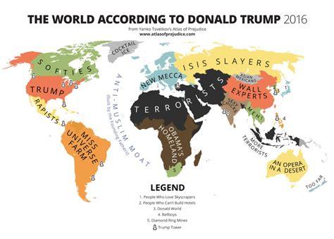 Un mapa del mundo según la visión de Trump | Verne México ...