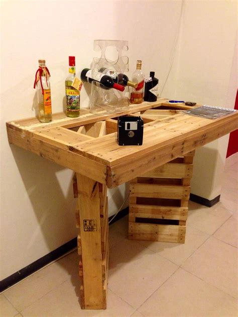 Un mini bar hecho con pallets | jardin | Pinterest | Las ...