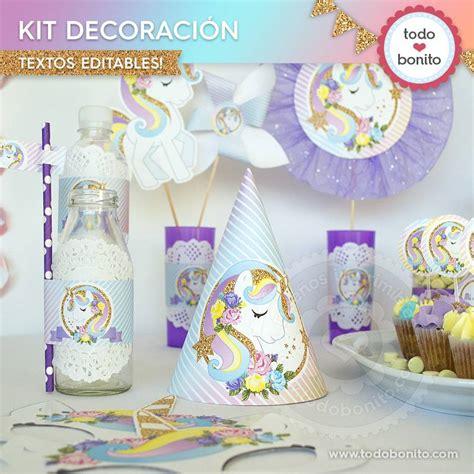 Unicornio: decoración de fiesta   Todo Bonito