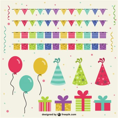 Verjaardag decoratie | Vector | Premium Download