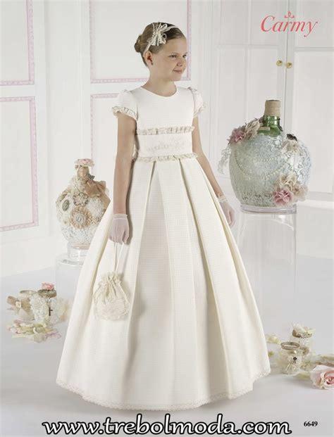 Vestido niña comunión 6649   Trebol Moda