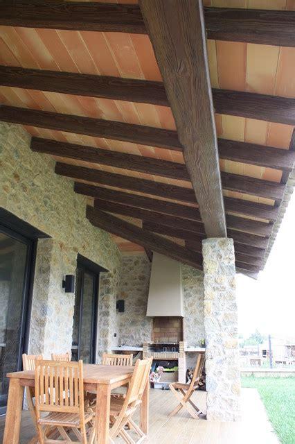 Viga hormigón imitación madera
