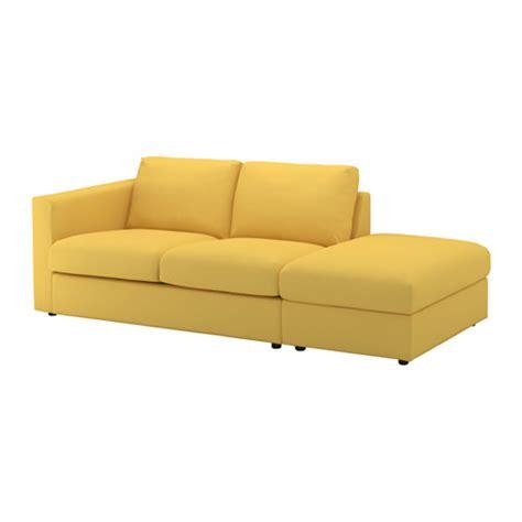 VIMLE Sofá 3 plazas   +extremo abierto/Orrsta dorado   IKEA