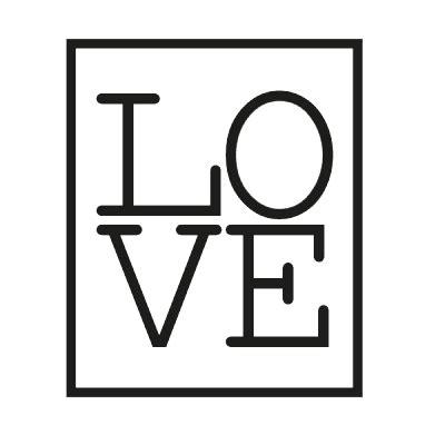 Vinilo Decorativo Love Enmarcado   Wallvi.com