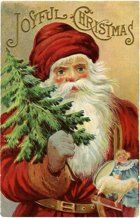 Vintage Christmas Santa Image   Wonderful!   The Graphics ...
