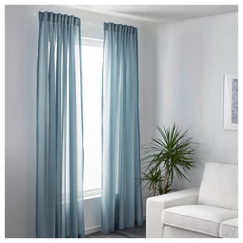 VIVAN Curtains, 1 pair Light blue 145x250 cm   IKEA