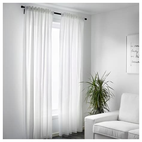 VIVAN Curtains, 1 pair White 145x250 cm   IKEA