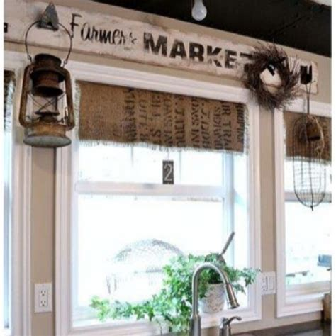 What a cool way to have cute rustic curtains in the ...