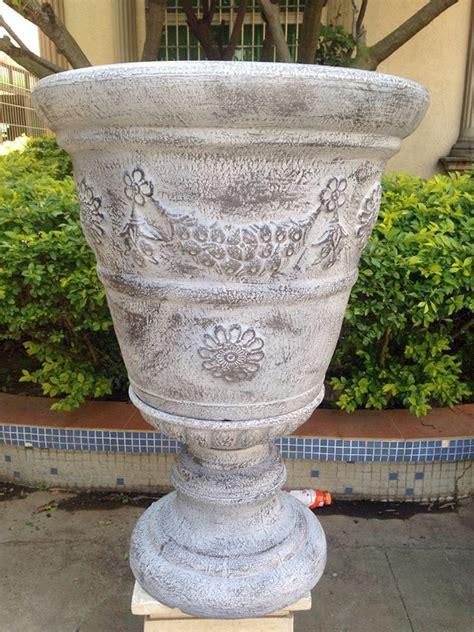 Wholesale decorative large plastic garden urn tall ...