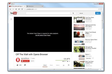 YouTube HTML5 unblocker extension   Opera add ons