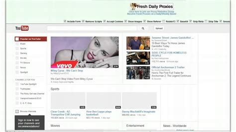 Youtube Proxy   FREE Youtube Proxies Surf Anonymously ...